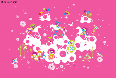 Designer childrens wallpaper for Unique childrens wallpaper